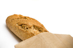 Bread in paper bag Royalty Free Stock Photography