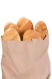 Bread in paper packet Stock Images