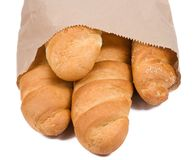 Bread in paper packet Royalty Free Stock Photos