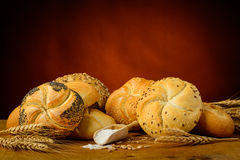 Bread, pastries and ingredients Royalty Free Stock Photos