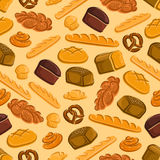 Bread and pastries seamless pattern Royalty Free Stock Photography