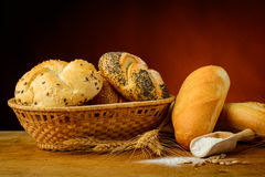 Bread and pastries Stock Photography