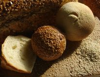 Bread and pastry. Various bread, pastry and sesame royalty free stock images