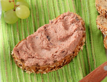 Bread and pate Royalty Free Stock Photo