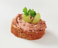 Bread and pate Royalty Free Stock Photos