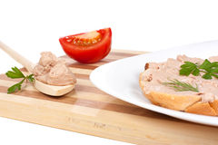 Bread with pate Royalty Free Stock Image