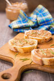 Bread with pate Royalty Free Stock Images