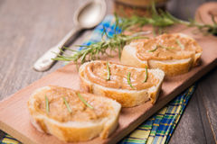 Bread with pate Royalty Free Stock Photo