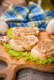 Bread with pate Stock Photography