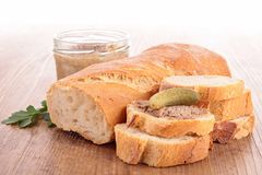 Bread and pate Stock Images