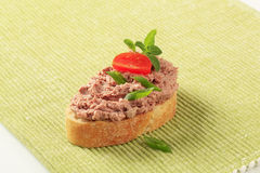Bread and pate Royalty Free Stock Images