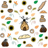 Bread pattern Stock Photography