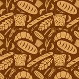 Bread pattern. Illustration of bread seamless pattern vector illustration