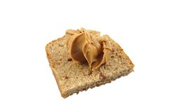 Bread and peanut butter Royalty Free Stock Photos