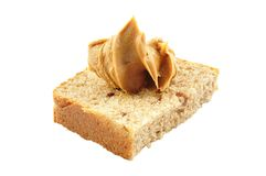 Bread and peanut butter Royalty Free Stock Image