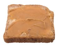 Bread and peanut butter Stock Photos