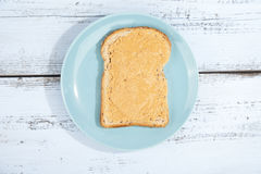 Bread with peanut butter Royalty Free Stock Images