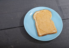 Bread with peanut butter Stock Image