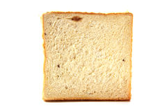 Bread. The piece of delicious bread on white background Stock Images