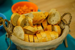 Bread pieces Stock Images