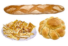 Bread and pies Stock Images