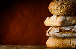 Bread pile Stock Photography