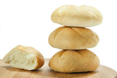 Bread placed in the tower Royalty Free Stock Photography