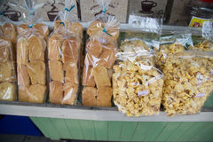 Bread in plastic bag Royalty Free Stock Photography