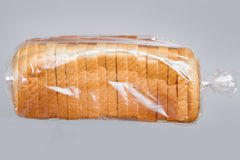 Bread in plastic bag. Stock Image