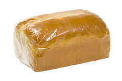 Bread in Plastic Wrap royalty free stock images