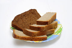 Bread on the plate Royalty Free Stock Photo