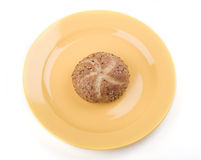 Bread on a plate Royalty Free Stock Photography