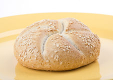 Bread on a plate Stock Photography