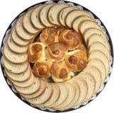 Bread platter. Fresh bread deli platter for party Stock Images