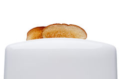 Bread popping up from a toaster Royalty Free Stock Photography