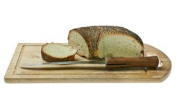Bread with poppy seeds. Stock Photo