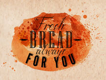 Bread poster kraft Stock Images