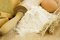 Bread preparation Stock Photo