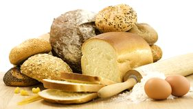 Bread preparation Royalty Free Stock Images