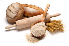 Bread preparation Royalty Free Stock Photo