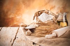 Bread preparation Stock Photography