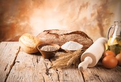 Bread preparation Stock Image