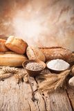 Bread preparation Royalty Free Stock Photography