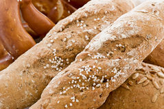 Bread and Pretzel Royalty Free Stock Image