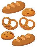 Bread products. Illustration of a bread products Stock Images