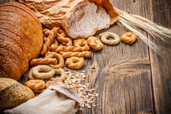 Bread products Stock Image