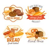 Bread products vector illustration