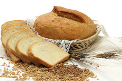 Bread products with seeds Stock Images