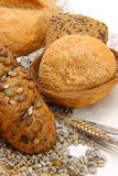 Bread products with seeds Royalty Free Stock Photo