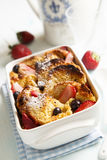 Bread pudding with berries Royalty Free Stock Photo
